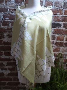 KED680c 100 Silk Hand Batik Shawl Scarf