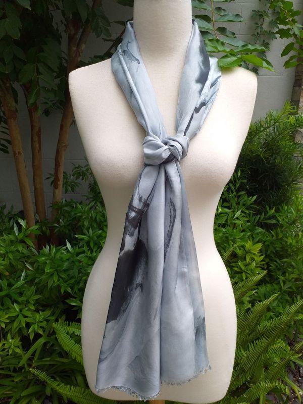 KOD654c 100 Silk Hand Dye Shawl Scarf