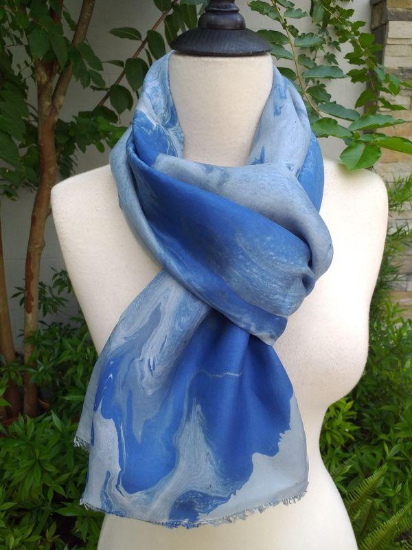 KOD658b 100 Silk Hand Dye Shawl Scarf