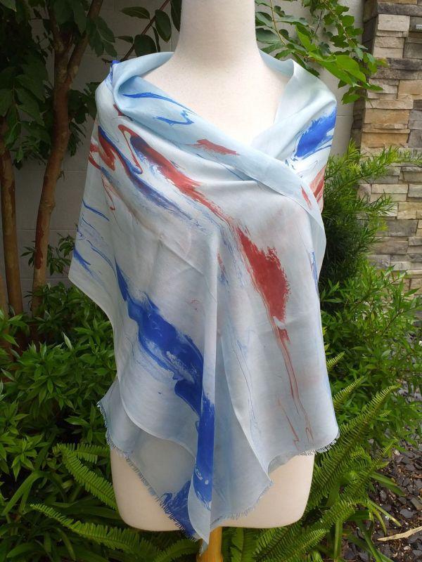 KOD951d 100 Silk Hand Dye Shawl Scarf