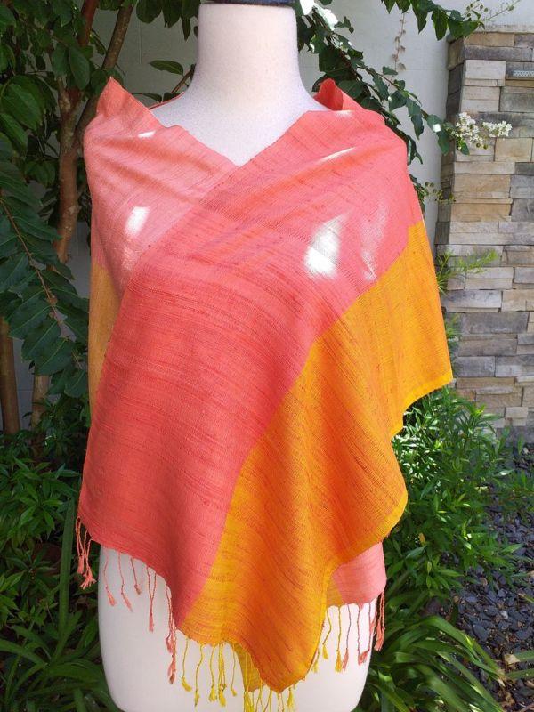 NCD002d Thai Silk Hand Spun Stylish Scarf