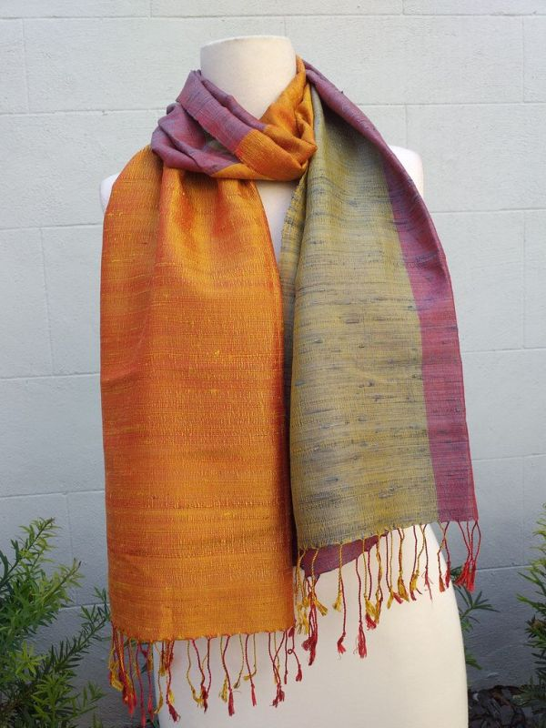 NCS710B SEAsTra 100 Raw Silk Scarf