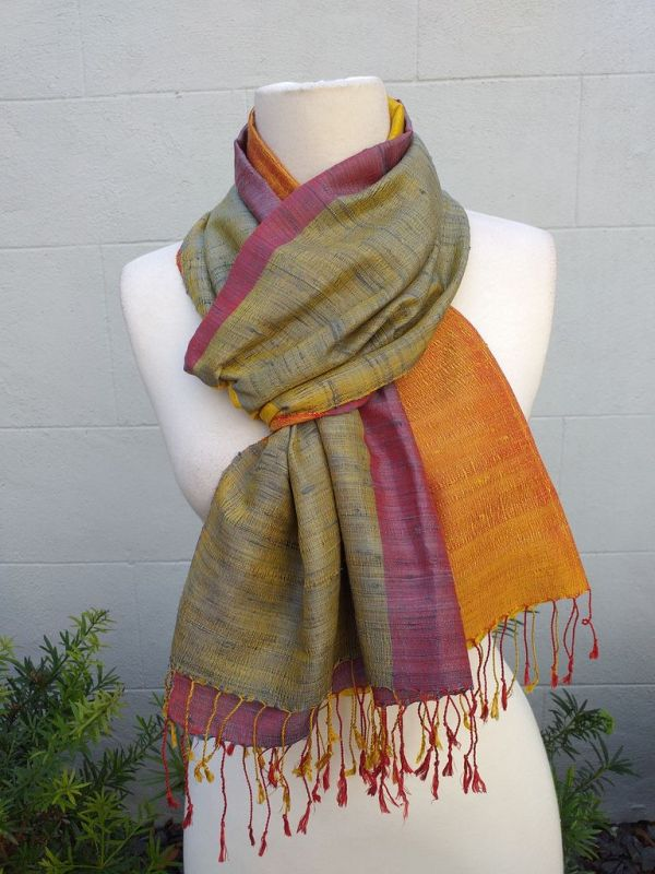 NCS710D SEAsTra 100 Raw Silk Scarf