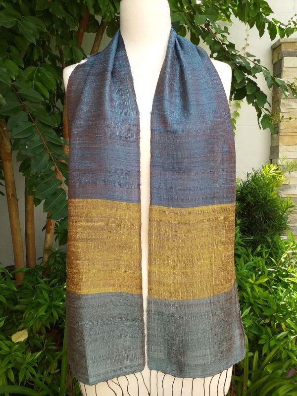 NDC712a Thai Silk Hand Woven Colorful Scarf
