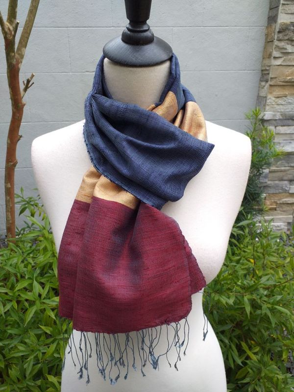 NDD022C SEAsTra Handwoven Silk Scarves