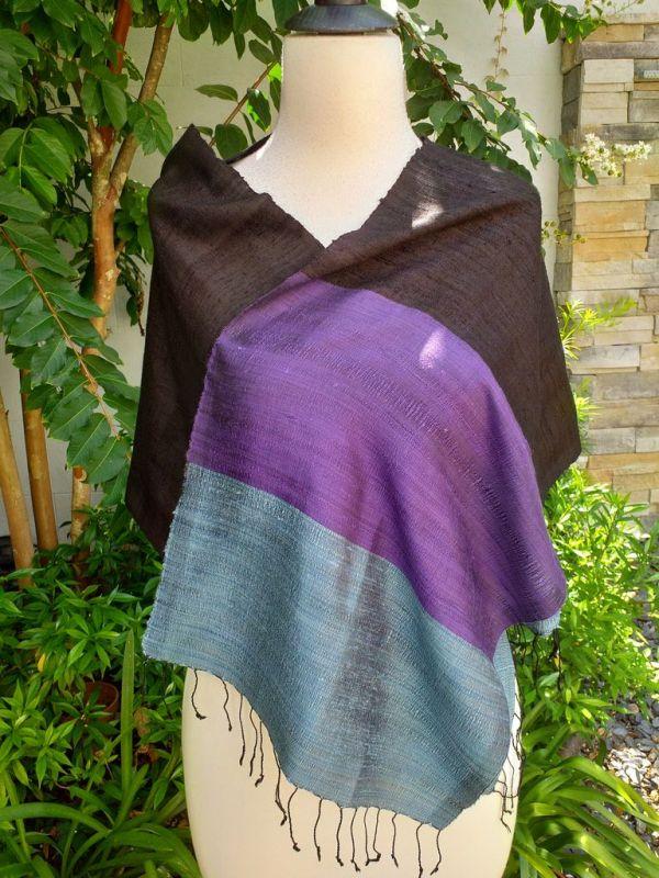 NDD713d Thai Silk Hand Spun Stylish Scarf
