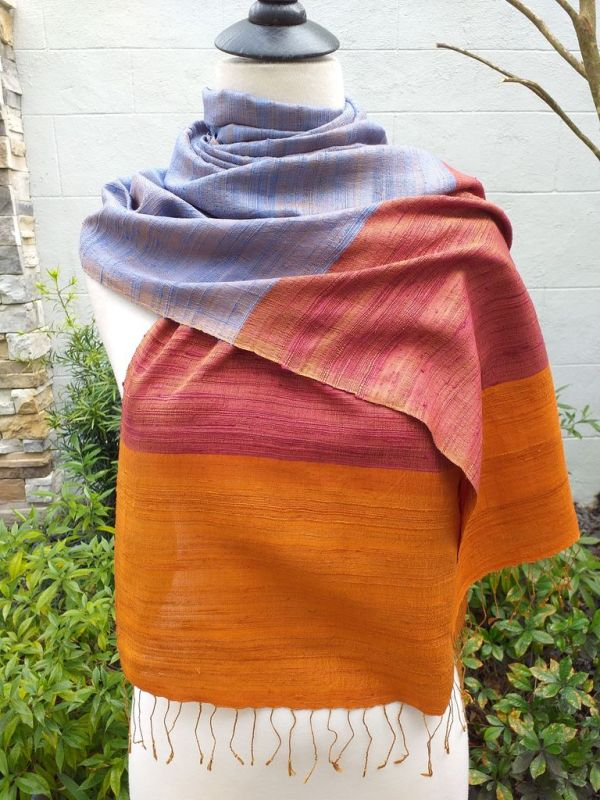 NDS330A SEAsTra Handwoven Silk Scarves