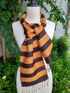 NFC041d Thai Silk Hand Spun Stylish Scarf
