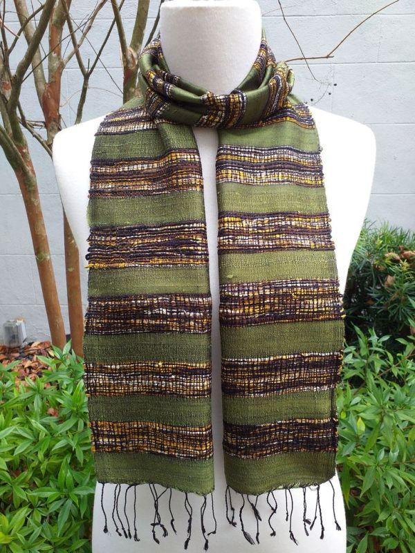 NFC139B SEAsTra Thailand Silk Scarf