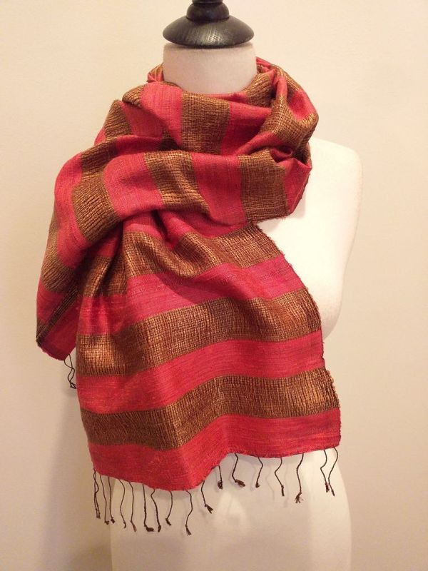 NFD185E SEAsTra Handwoven Silk scarf