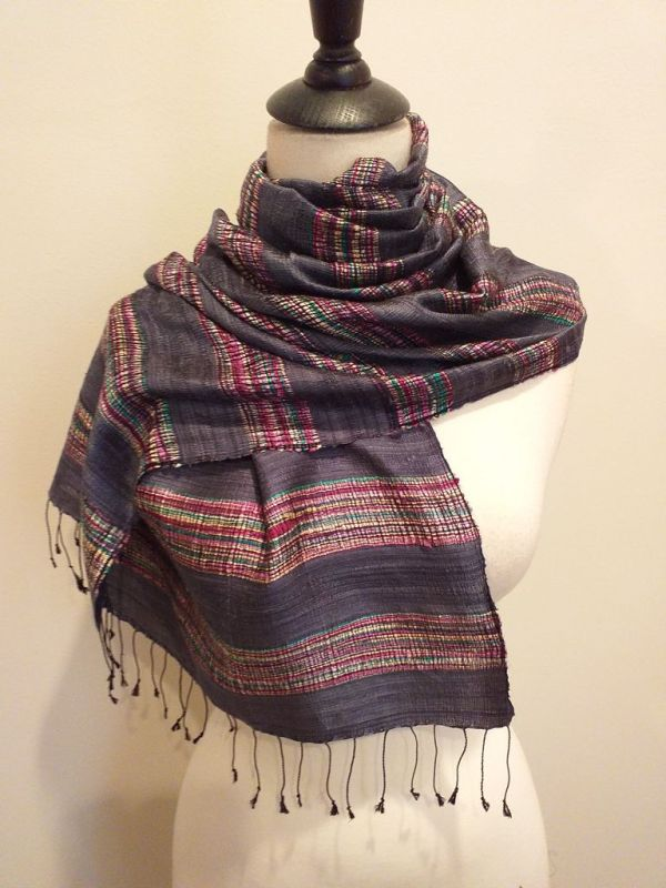 NFD561E SEAsTra Handwoven Silk scarf