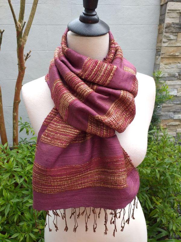 NFS039C SEAsTra Handwoven Silk Scarves