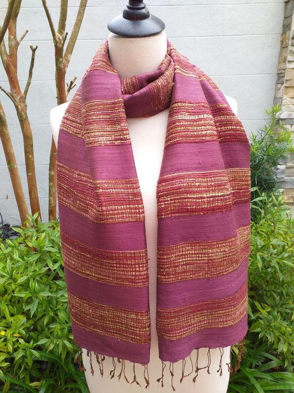 NFS039D SEAsTra Handwoven Silk Scarves