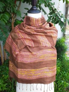 NFS567d Thai Silk Hand Spun Stylish Shawl
