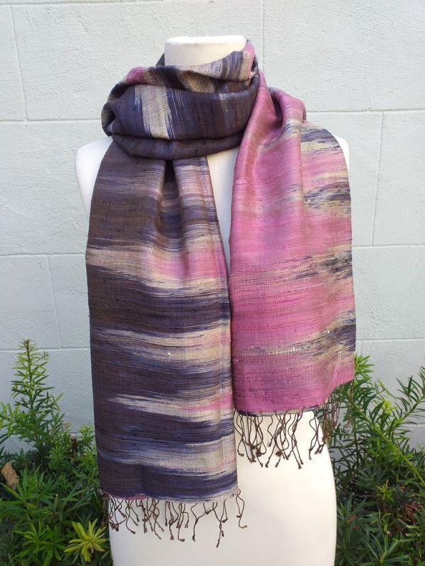 NMS865B SEAsTra Fairtrade Silk Scarf
