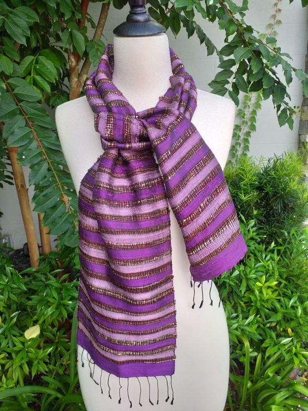 NNC512d Thai Silk Hand Spun Stylish Scarf