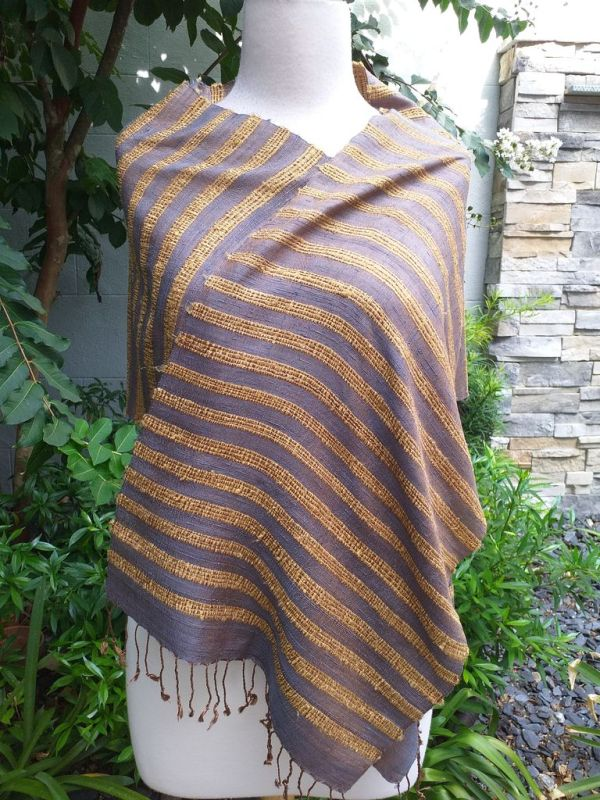 NND405d Thai Silk Hand Spun Stylish Scarf