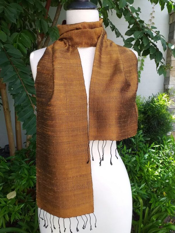 NPC160b Thai Silk Hand Dyed Striking Scarf