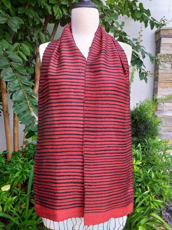 NSC901a Thai Silk Hand Woven Colorful Scarf