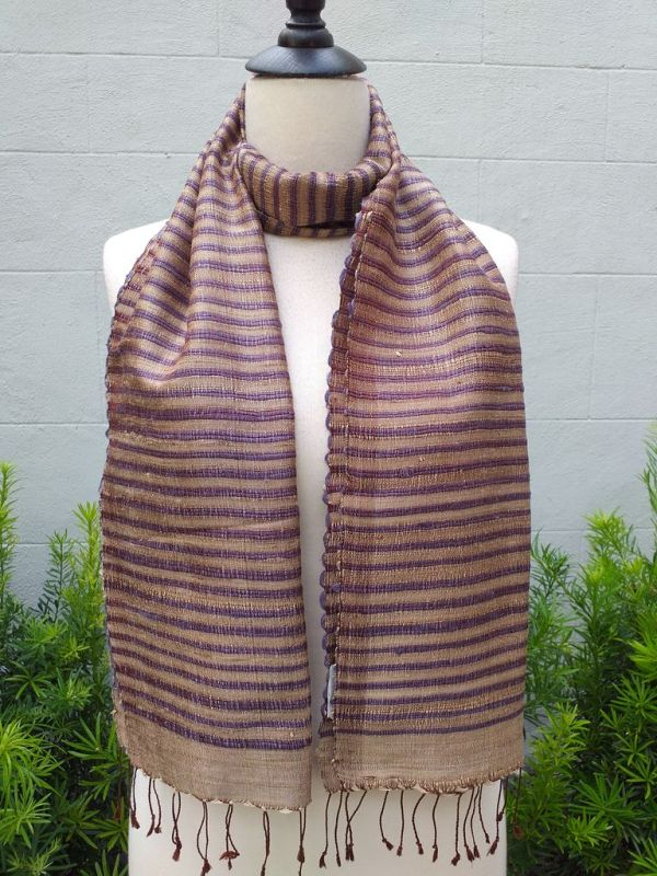 NSD500b Thai Silk Hand Dyed Striking Scarf
