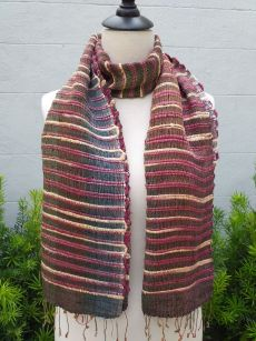NSD521b Thai Silk Hand Dyed Striking Scarf
