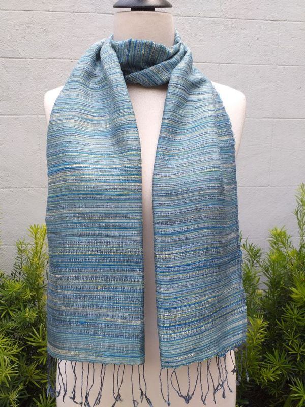 NSD555b Thai Silk Hand Dyed Striking Scarf