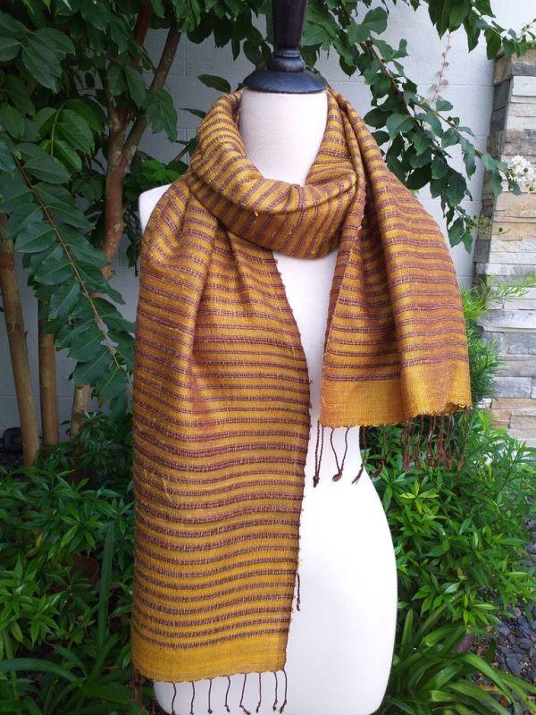 NSS005a Thai Silk Hand Woven Colorful Shawl