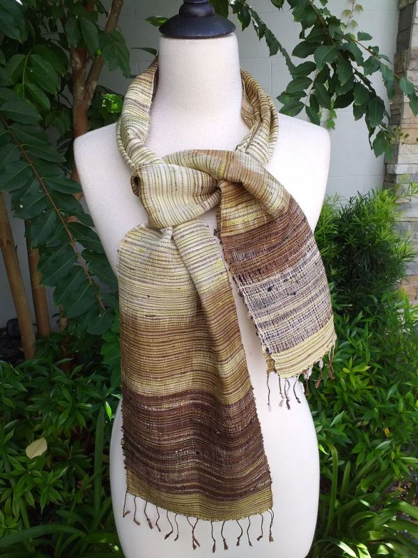 NTC075d Thai Silk Hand Spun Stylish Scarf