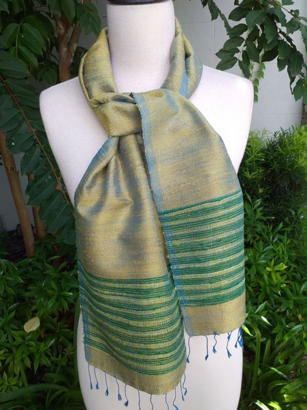 NTC077d Thai Silk Hand Spun Stylish Scarf