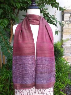 NTD302b Thai Silk Hand Dyed Striking Scarf