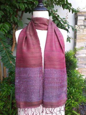 NTD302b Thai Silk Hand Dyed Striking Scarf