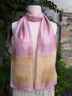 NTD751b Thai Silk Hand Dyed Striking Scarf
