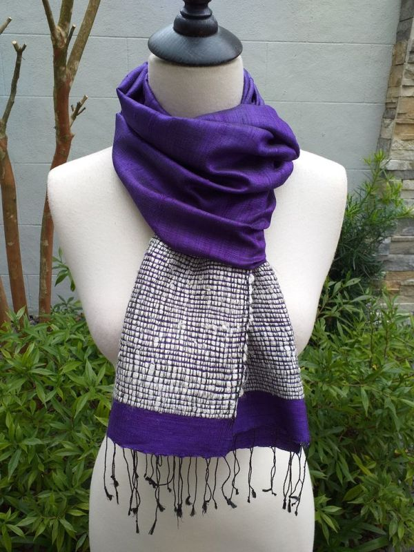 NTD902C SEAsTra Handwoven Silk Scarves