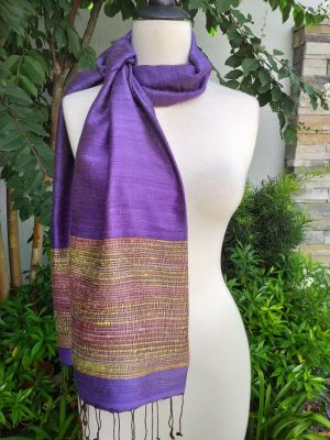 NTS502c Thai Silk Hand Wash Elegant Shawl