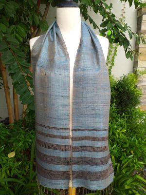 NWC650a Thai Silk Hand Woven Colorful Scarf