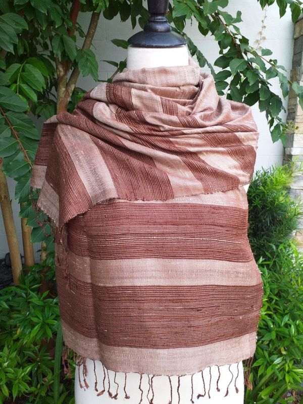 NWS042e Thai Silk Hand Made Stylish Shawl