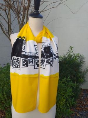 PYC024D 100 Natural Rayon Fiber Hand Painted Scarf