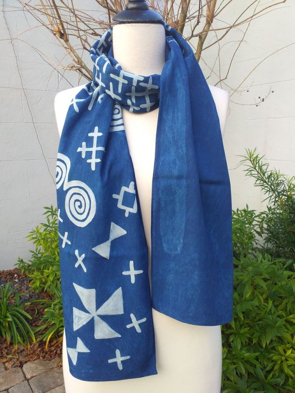 PYC053A 100 Natural Rayon Fiber Hand Painted Scarf
