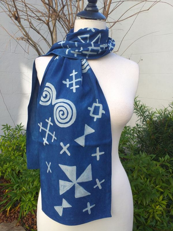 PYC053B 100 Natural Rayon Fiber Hand Painted Scarf