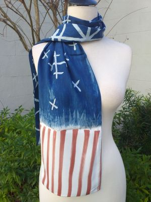 PYC055B 100 Natural Rayon Fiber Hand Painted Scarf