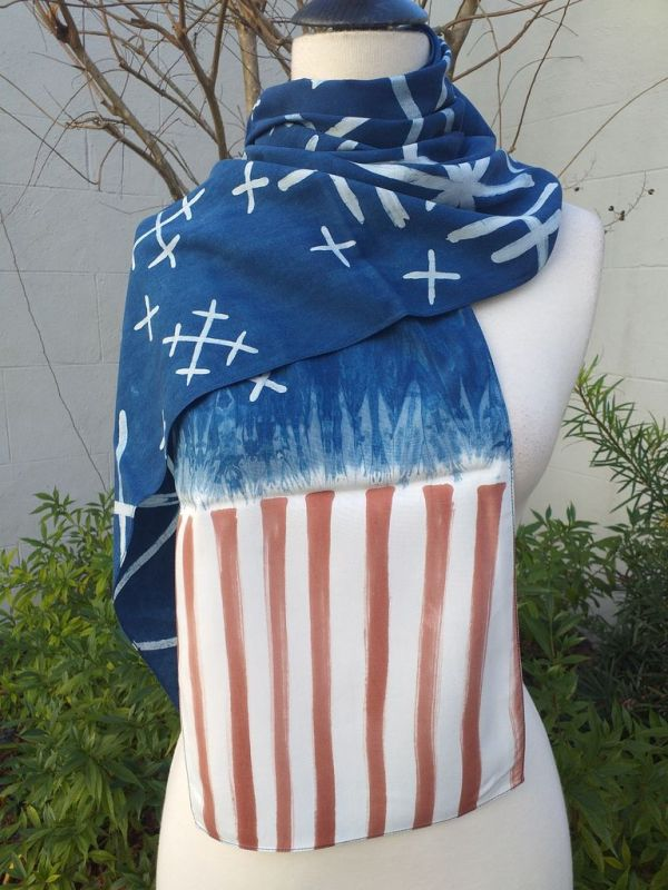 PYC055C 100 Natural Rayon Fiber Hand Painted Scarf