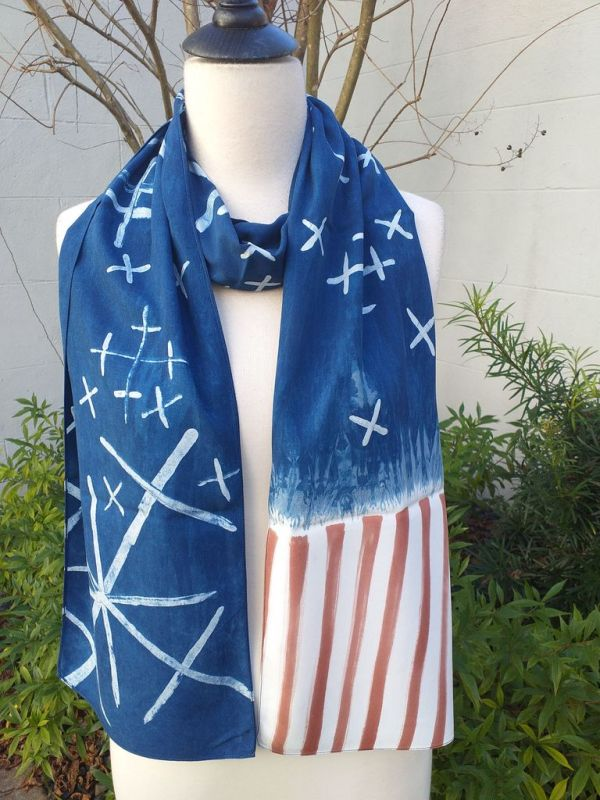 PYC055D 100 Natural Rayon Fiber Hand Painted Scarf
