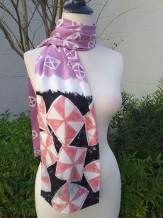 PYC067B Original Designs Hand Painted Skinny Scarf