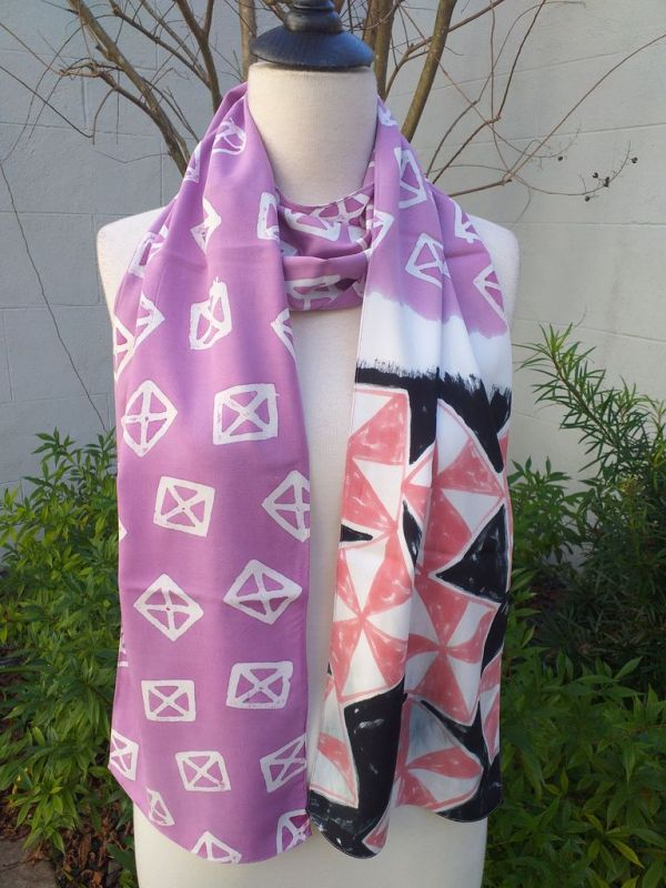 PYC067D Original Designs Hand Painted Skinny Scarf
