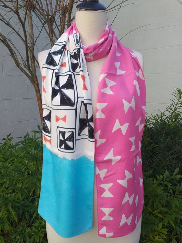 PYC069D Original Designs Hand Painted Skinny Scarf