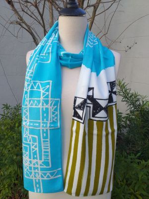 PYC078D Original Designs Hand Painted Skinny Scarf
