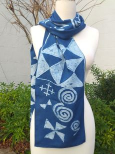 PYC080B Original Designs Hand Painted Skinny Scarf