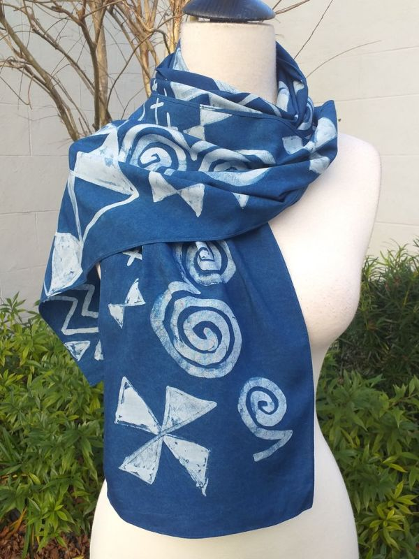 PYC080C 100 Natural Rayon Fiber Hand Painted Scarf