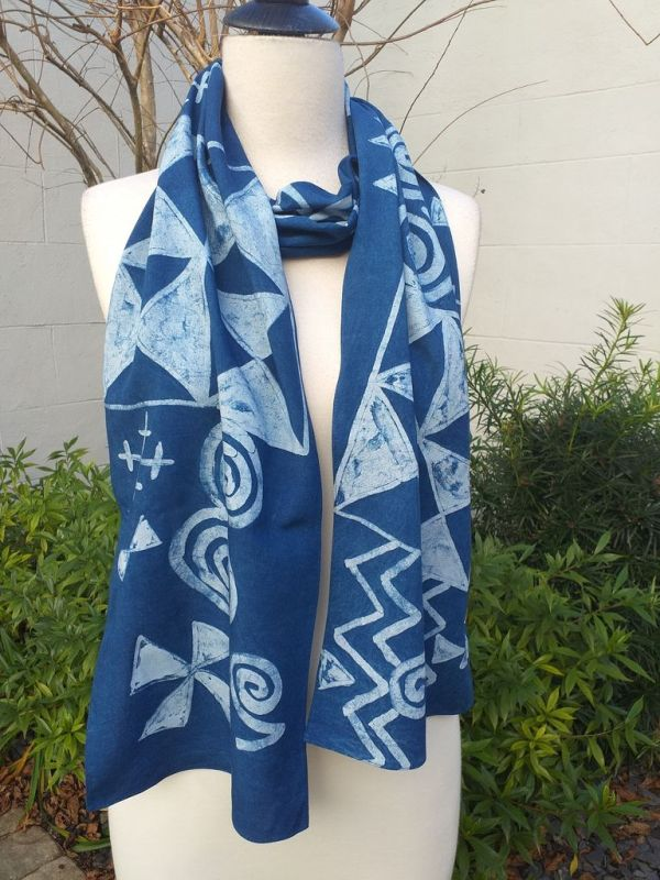 PYC080D Original Designs Hand Painted Skinny Scarf