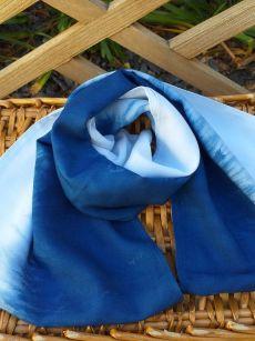 WEI865A Rayon Indigo Tie Dye Infinity Scarf
